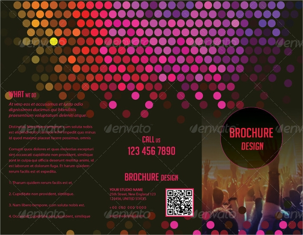 party dj brochure template