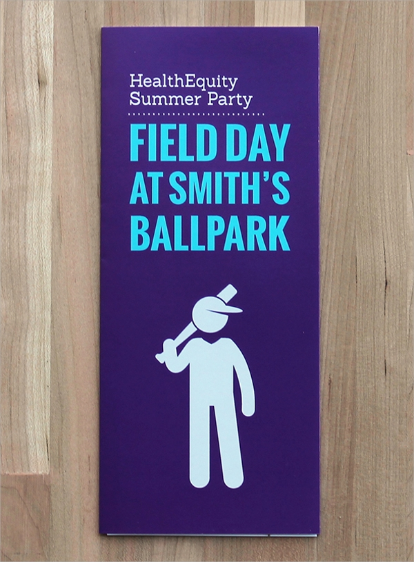 summer party brochure template