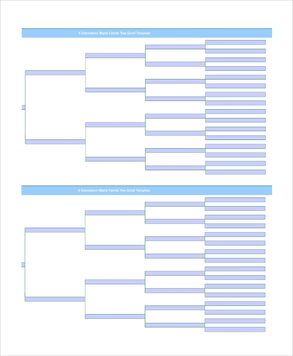 Sample Blank Family Tree Template   Free Documents Download In