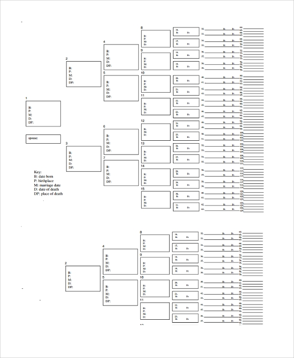9 Blank Family Tree Templates Sample Templates