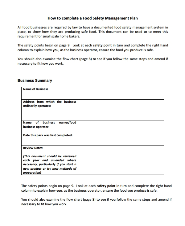 Sample Bakery Business Plan Template   Free Documents Download