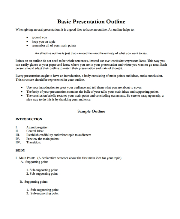 basic persuasive essay outline