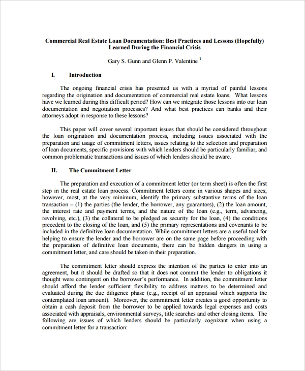 9+ Sample Commercial Loan Agreement Templates - Word, PDF
