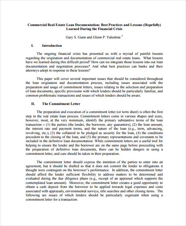 9 Sample Mercial Loan Agreement Templates
