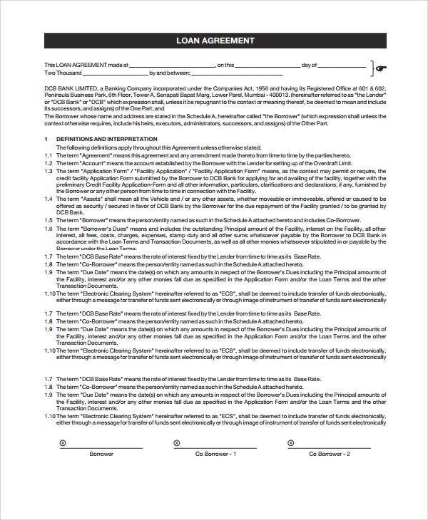 Washington loan brokerage agreement