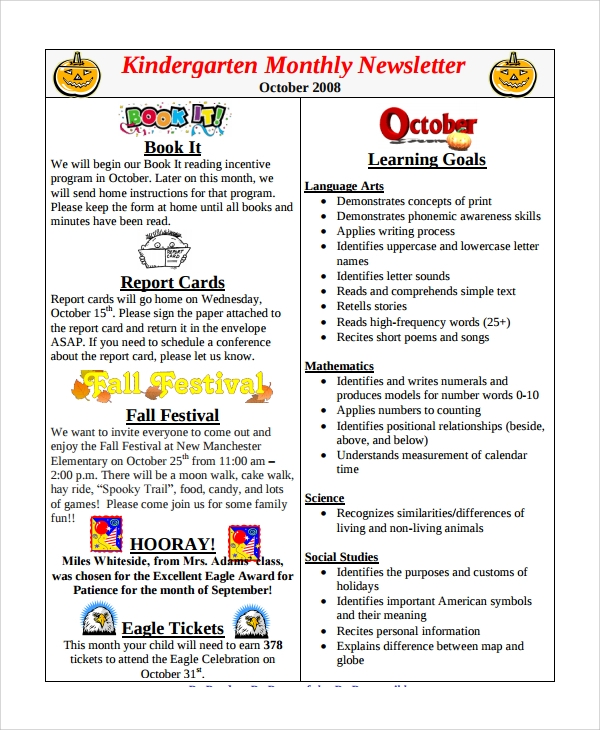 Kindergarten Newsletter Template. Meet The Teacher Little Miss ...