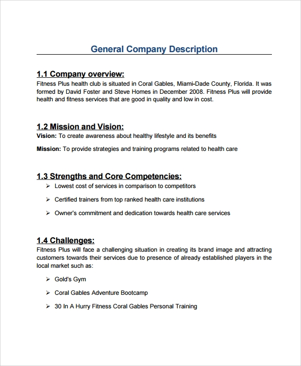 professional business plan templates