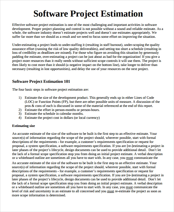 Software Development Proposal Template Software Development