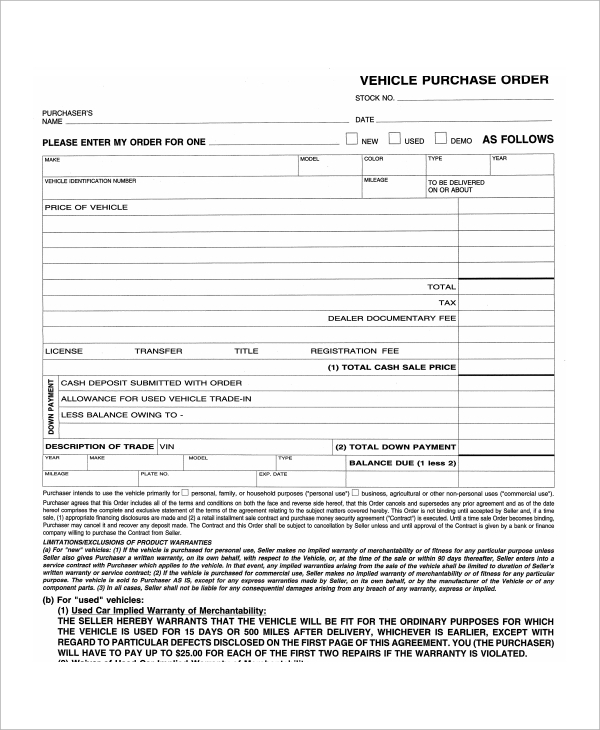 Sample Commercial Truck Lease Agreement   Documents In Word Pdf