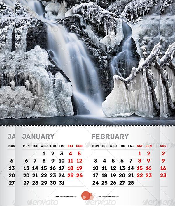 large wall calendar template
