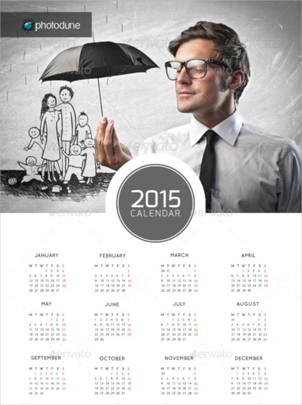 psd wall calendar template