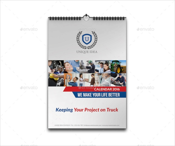 multipurpose wall calendar template