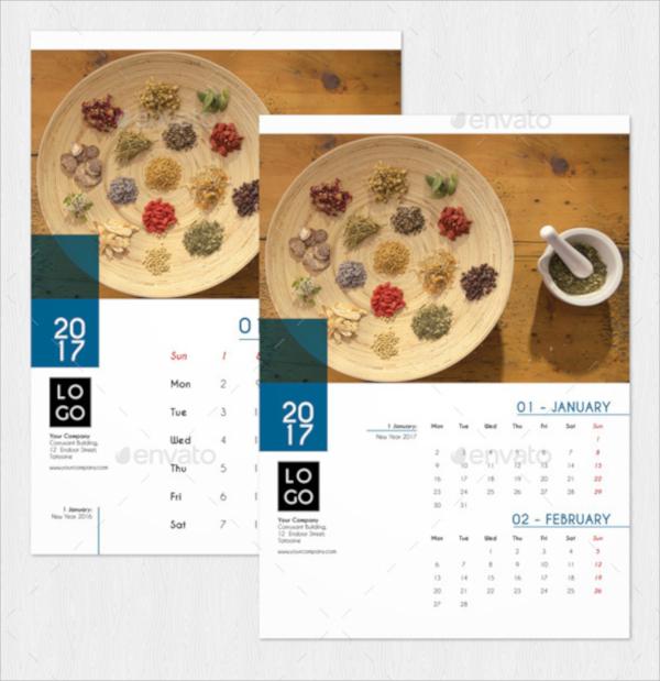 21 Wall Calendars Psd Vector Eps