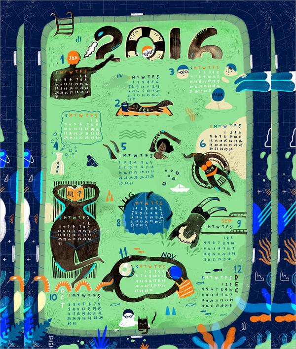 free wall calendar template