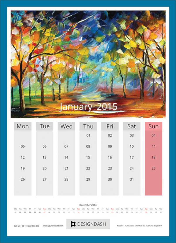 useful wall calendar