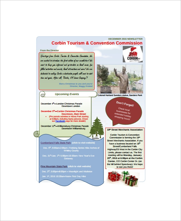 Sample Holiday Newsletter - 7+ Documents in PDF