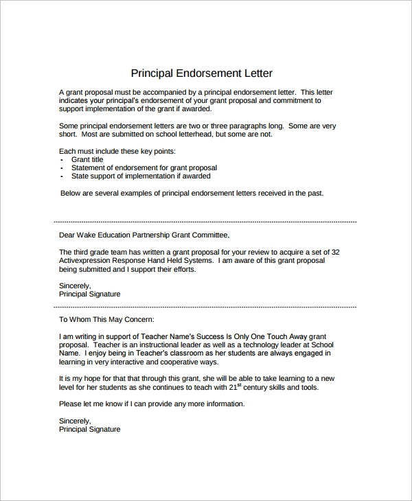 Endorsement Letter  BesikEightyCo