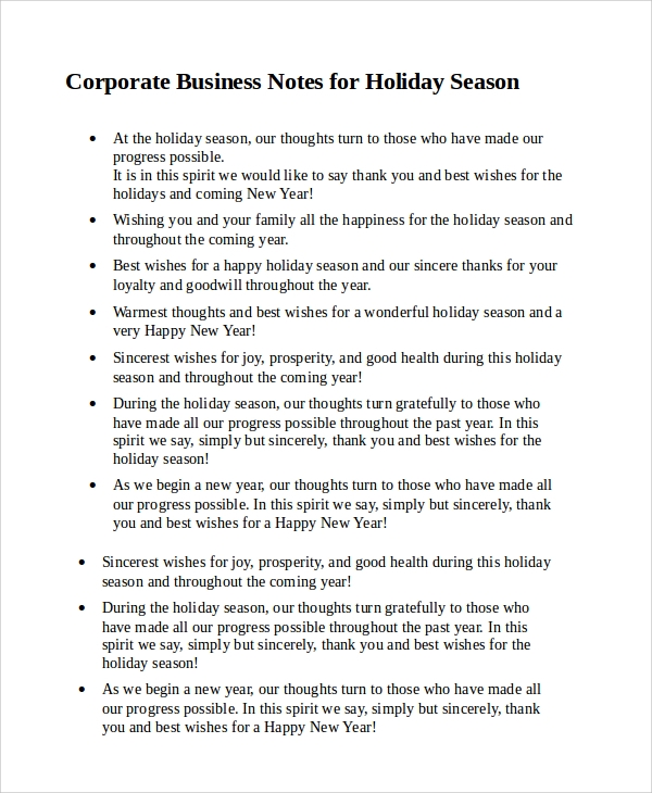 sample holiday greetings message