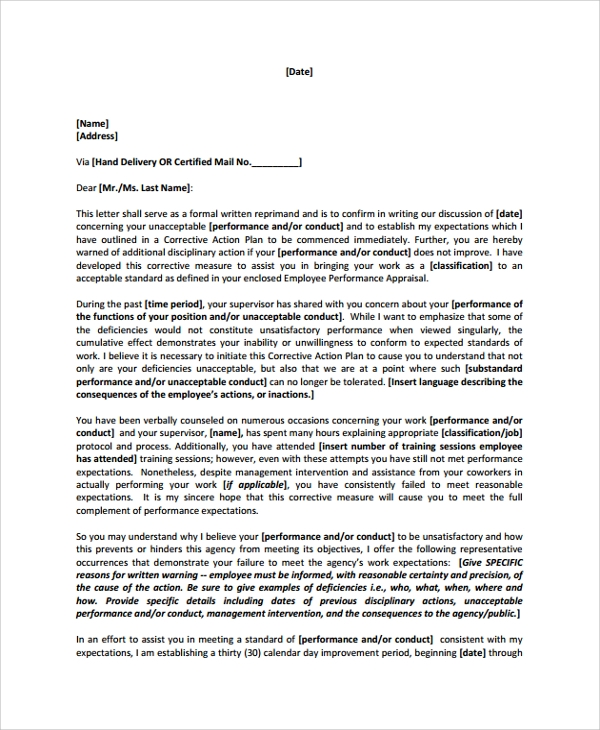 Evaluation Letter For Employee from images.sampletemplates.com
