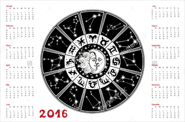 12+ Zodiac Calendar Templates - Psd, Vector Eps
