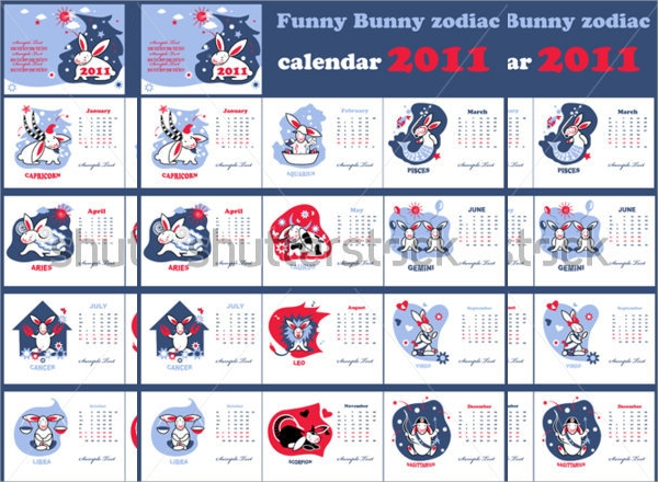funny zodiac calendar