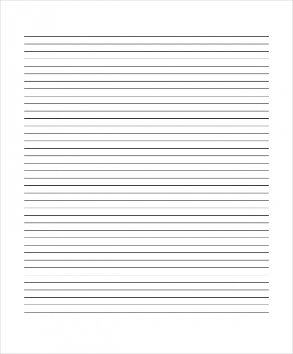 Sample Lined Paper 19 Documents in PDF Word – Lined Blank Paper