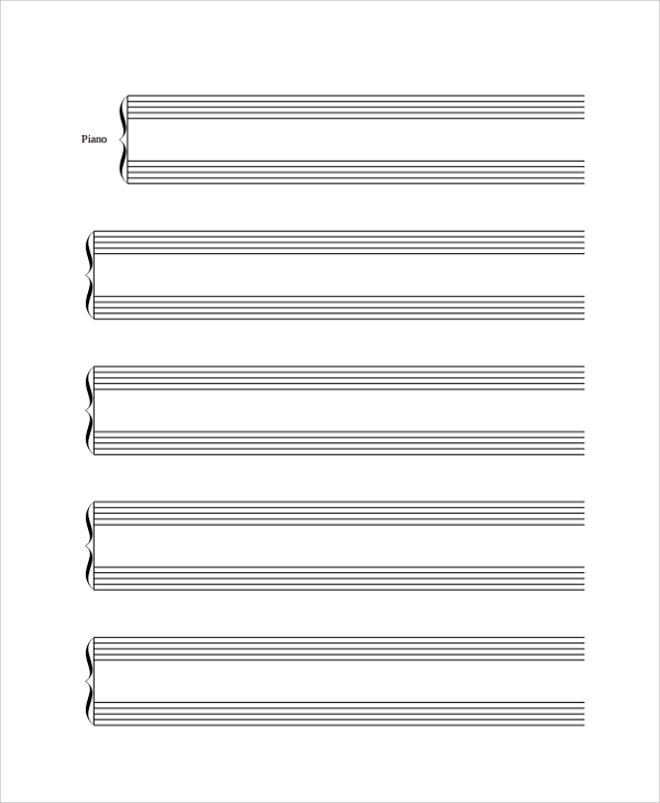 blank music sheets for piano