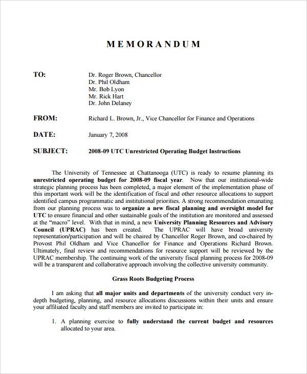 Sample Memo 20 Documents in PDF Word – Sample Memos
