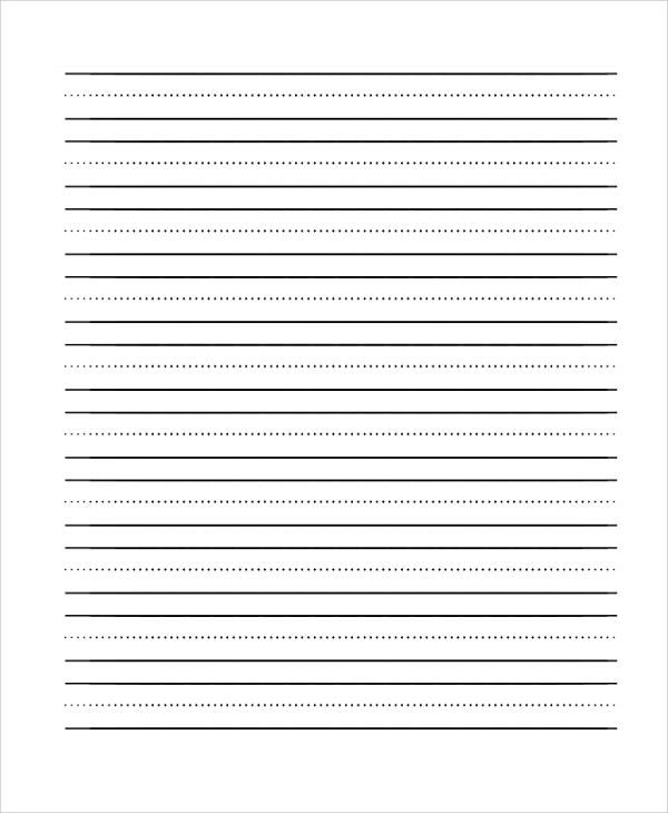 three lined paper