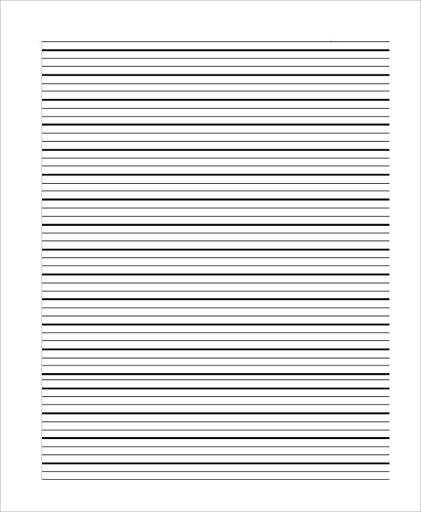 ruled lined paper