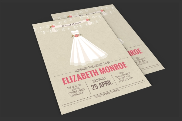 bridal engagement invitation template