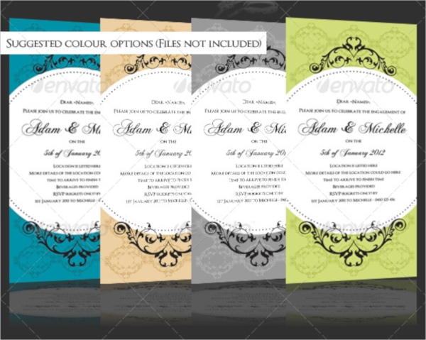 engagement wedding invitation template