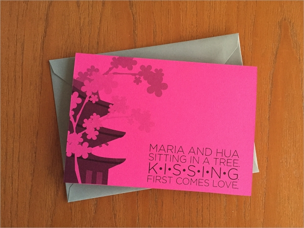 pink colour engagement party invitation