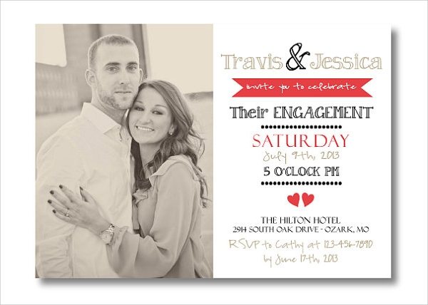 printable engagement invitation template