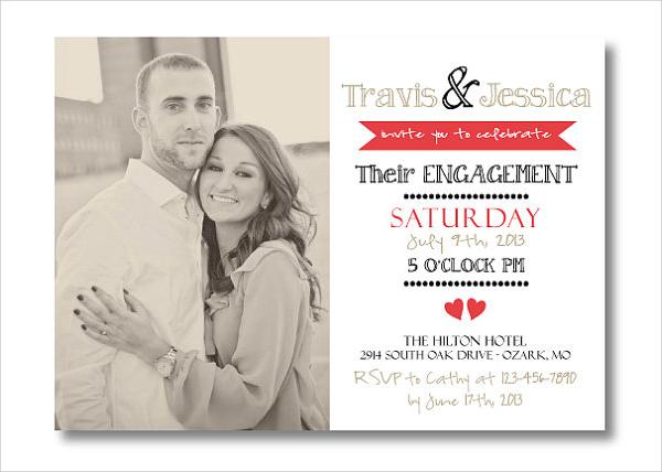 printable engagement invitation template