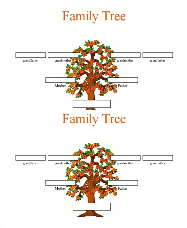 Sample  Generation Family Tree Template   Documents In Word Pdf