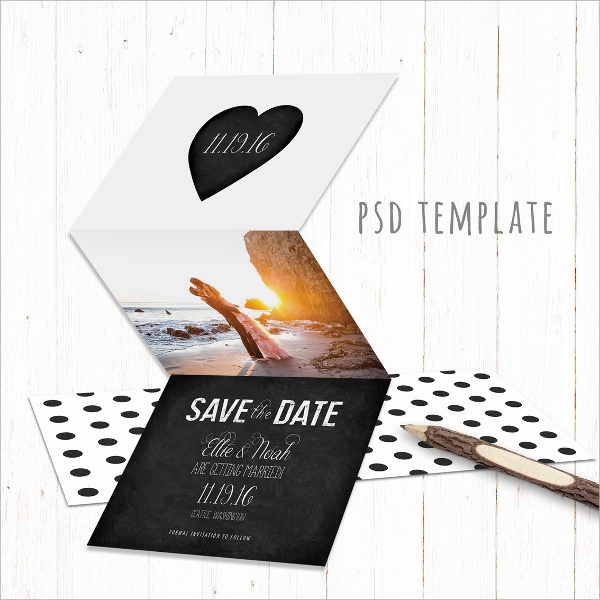 engagement tri fold card
