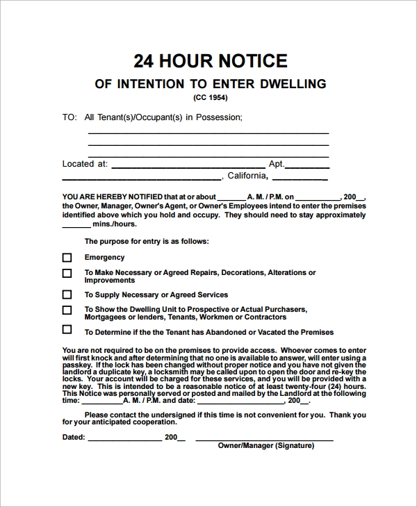 Sample Notice Letter - 21+ Documents In Pdf, Word