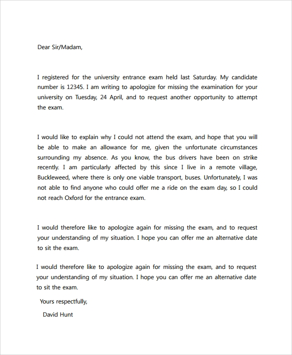 Sample Apology Letter   Documents In Pdf Word