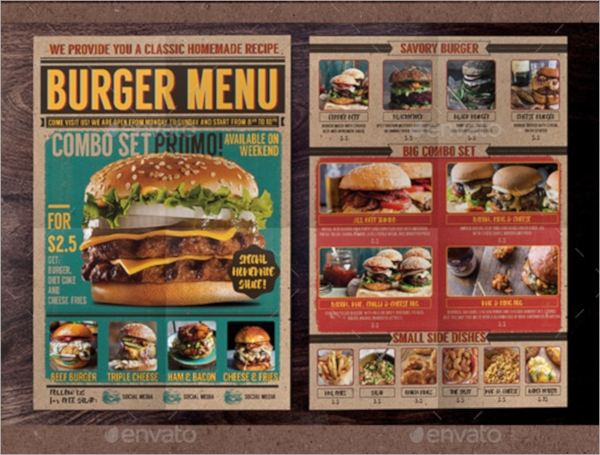 Menu Flyer Templates  Psd Vector Eps