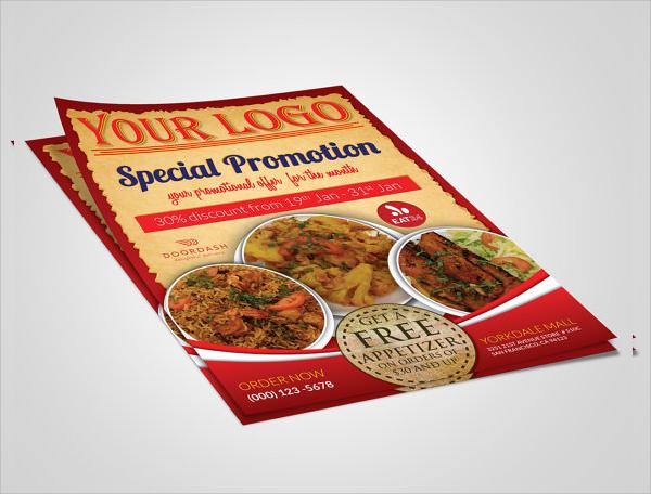 printable menu flyer