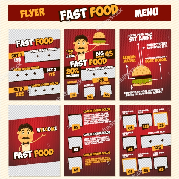 vector menu flyer template