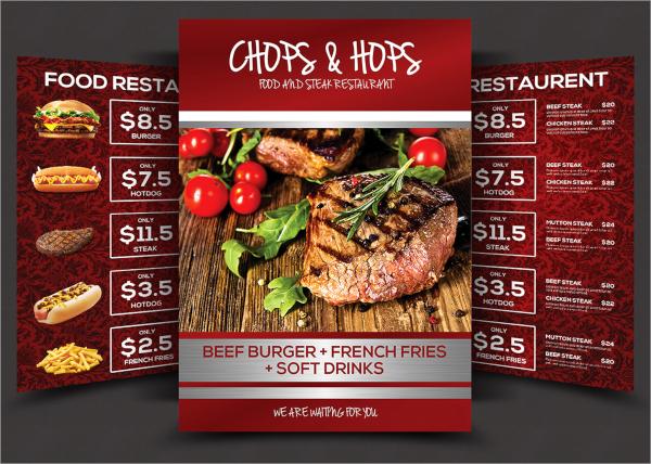 psd food menu flyer