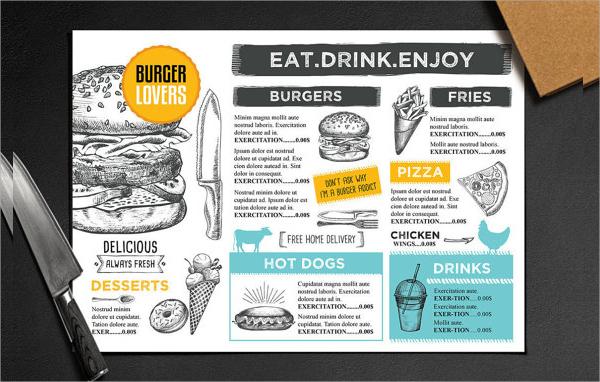 fabalous menu flyer
