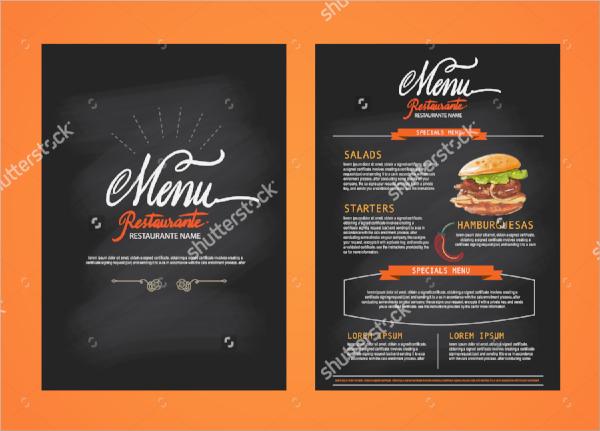 simple menu flyer