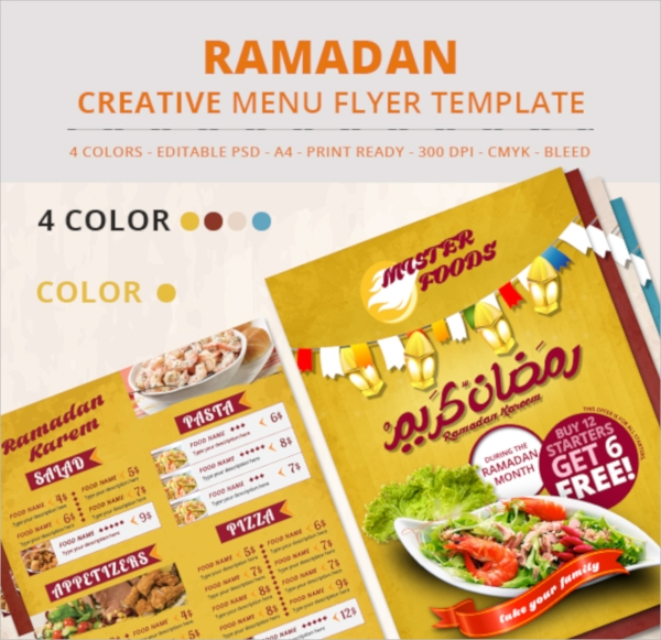 fantastic menu flyer