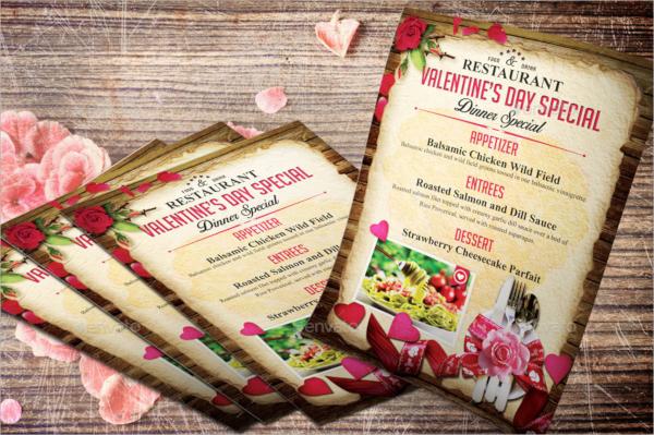 valentine menu flyer