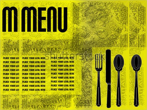 vintage menu flyer