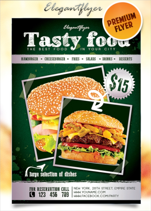 tasty menu flyer