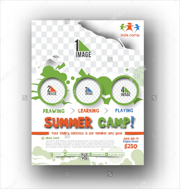 camp flyer template vector